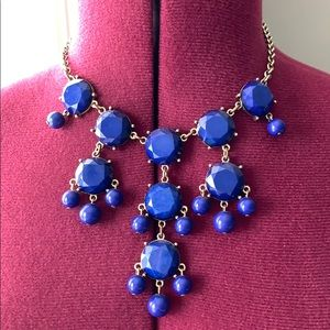 Blue and silver bubble necklace
